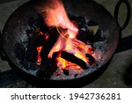 burning charcoal in an iron... | Shutterstock . vector #1942736281