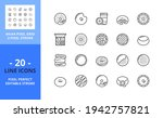 line icons about donut....   Shutterstock .eps vector #1942757821