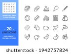 line icons about meat. contains ...   Shutterstock .eps vector #1942757824