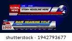 set of breaking news template... | Shutterstock .eps vector #1942793677