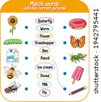 match words with the correct... | Shutterstock .eps vector #1942795441