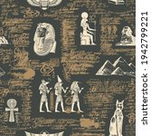 seamless pattern on an ancient... | Shutterstock .eps vector #1942799221