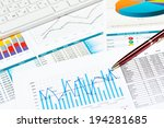 pen and successful growth... | Shutterstock . vector #194281685
