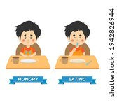 stock vector kids hungry and... | Shutterstock .eps vector #1942826944