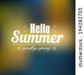 hello summer vector background... | Shutterstock .eps vector #194282705