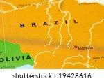 close up of brasilia  brazil on ... | Shutterstock . vector #19428616