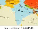 close up of india on map | Shutterstock . vector #19428634