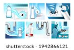 clogged drain cleaner promo...   Shutterstock .eps vector #1942866121
