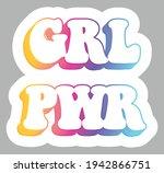 grl pwr. girl power. modern... | Shutterstock .eps vector #1942866751
