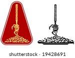 fork  spaghetti and plate ... | Shutterstock .eps vector #19428691