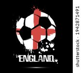 abstract soccer ball with... | Shutterstock .eps vector #1942871491