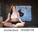 young woman practicing yoga | Shutterstock . vector #194289749