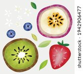 Colorful Fruits Exotic Bright...