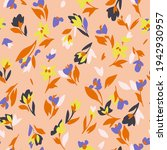 spring floral seamless pattern. ... | Shutterstock .eps vector #1942930957