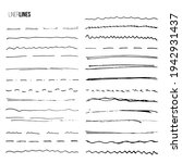 brush hand drawn lines by liner ... | Shutterstock .eps vector #1942931437