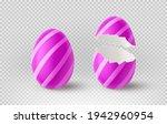 violet cracked egg isolated on... | Shutterstock .eps vector #1942960954