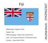 fiji national flag  country's...   Shutterstock .eps vector #1942962367