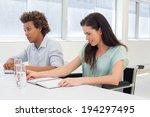 attractive business people... | Shutterstock . vector #194297495