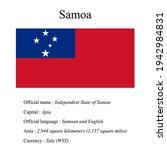 samoa national flag  country's...   Shutterstock .eps vector #1942984831