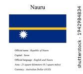 nauru national flag  country's...   Shutterstock .eps vector #1942984834