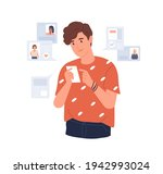 young man looking for... | Shutterstock .eps vector #1942993024