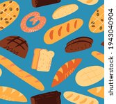 cute seamless pattern with... | Shutterstock .eps vector #1943040904
