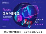 retro gaming streaming service...   Shutterstock .eps vector #1943107231