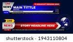 set of breaking news template... | Shutterstock .eps vector #1943110804