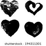 heart silhouette illustration... | Shutterstock . vector #194311301
