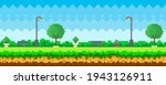 pixel art game nature landscape ...