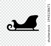 sled black silhouette  isolated ... | Shutterstock .eps vector #1943138671