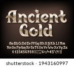 ancient gold alphabet font.... | Shutterstock .eps vector #1943160997