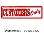 stamp with text customers only... | Shutterstock .eps vector #194316227