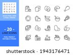 line icons about food. contains ... | Shutterstock .eps vector #1943176471