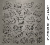 meat. vector format   Shutterstock .eps vector #194318294