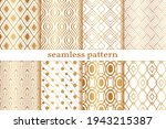 gold geometric seamless pattern.... | Shutterstock .eps vector #1943215387
