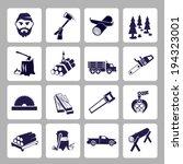 lumberjack woodcutter icons set ... | Shutterstock .eps vector #194323001
