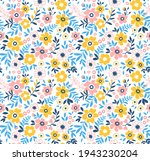 beautiful vintage floral... | Shutterstock .eps vector #1943230204
