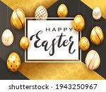 black lettering happy easter on ...   Shutterstock . vector #1943250967