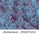 3d Rendered Letters On Cubes Of ...