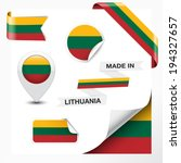made in lithuania collection of ... | Shutterstock .eps vector #194327657