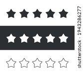vector five stars isolated.... | Shutterstock .eps vector #1943286277