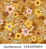 Vintage Floral Background....