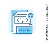 php file blue rgb color icon....   Shutterstock .eps vector #1943301574