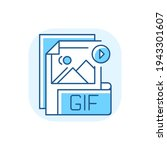 gif file blue rgb color icon....   Shutterstock .eps vector #1943301607