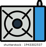 icon of camping gas burner...
