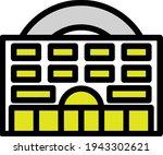 casino building icon. editable...