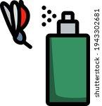 icon of mosquito spray....
