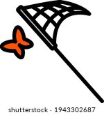 icon of butterfly net. editable ...