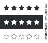 vector five stars isolated.... | Shutterstock .eps vector #1943306461